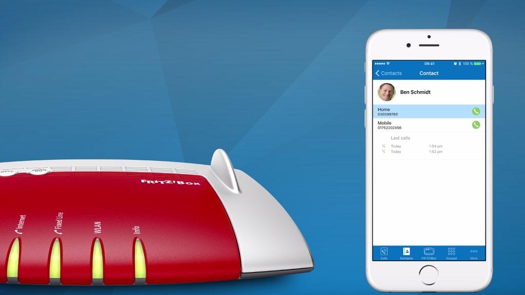 Utiliza la red fija con tu smartphone y tu tableta a través de FRITZ!App Fon 30