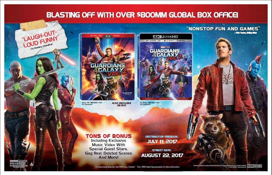 Guardianes de la Galaxia 2 será el primer Blu-ray 4K de Disney 30