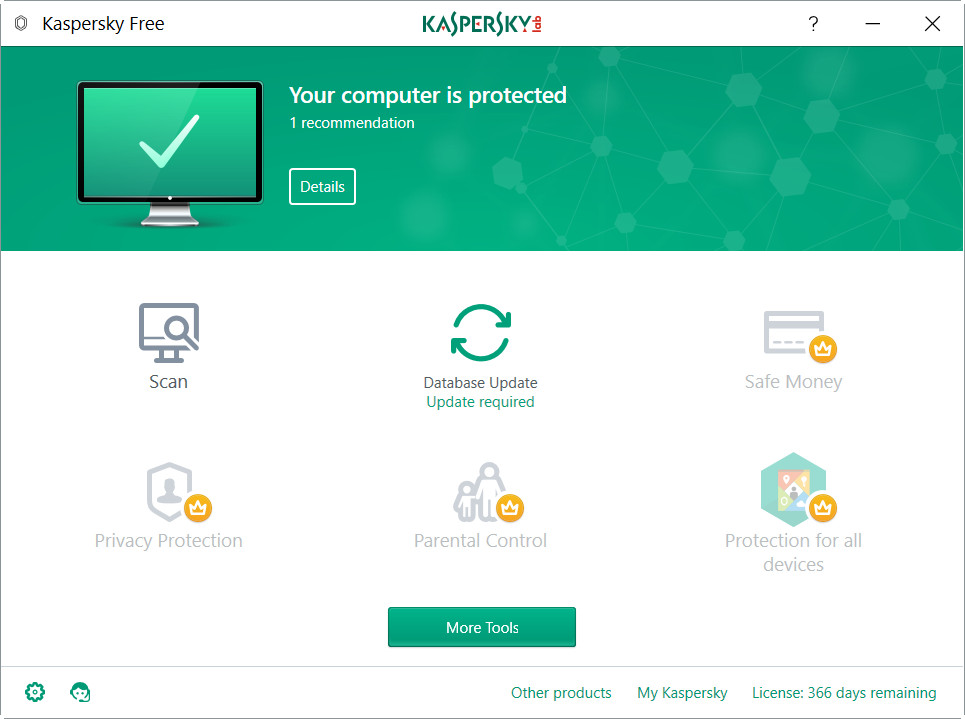 Kaspersky Free, antivirus gratuito en respuesta a Windows Defender 31