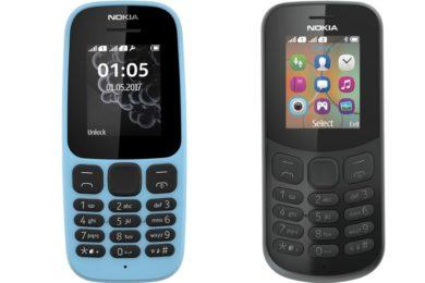 Nokia 105 y Nokia 130 presentados, teléfonos desde 15 dólares