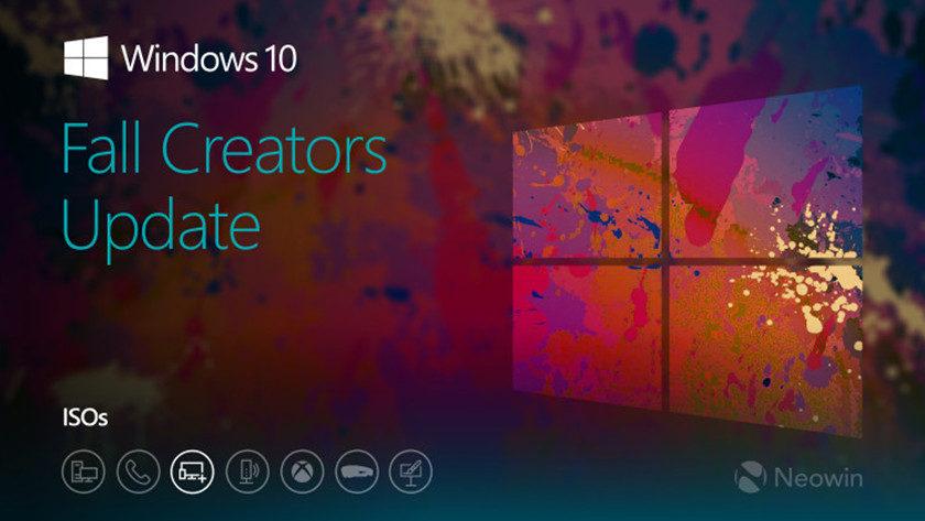 Microsoft publica ISO previa de Windows 10 Fall Creators Update