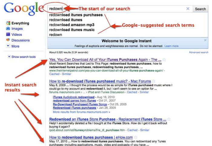 Google elimina la función de búsqueda instantánea 30
