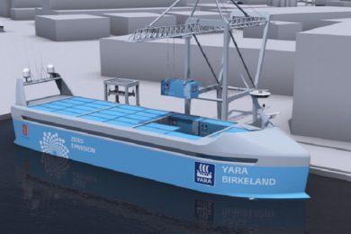Noruega está construyendo el primer carguero totalmente eléctrico