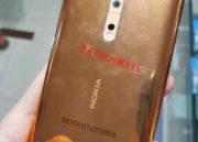 Imágenes reales del Nokia 8 en color cobre dorado 37