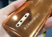 Imágenes reales del Nokia 8 en color cobre dorado 39