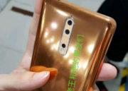 Imágenes reales del Nokia 8 en color cobre dorado 31