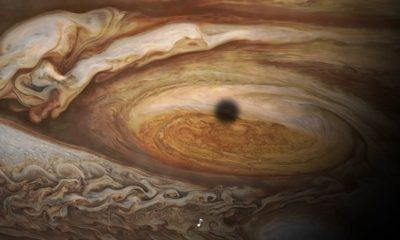 Un vistazo a la gran mancha roja de Júpiter, cortesía de Juno 85