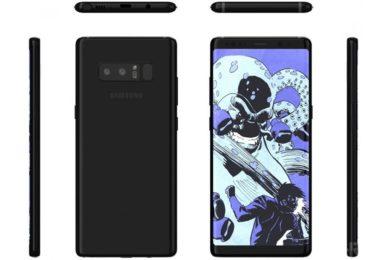 Nuevos renders del Galaxy Note 8 de Samsung, mala posición del lector de huellas