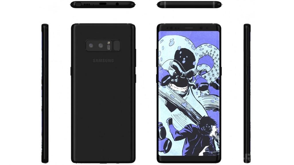 Nuevos renders del Galaxy Note 8 de Samsung, mala posición del lector de huellas 29