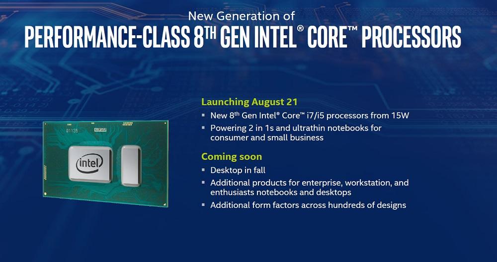 Intel anuncia los procesadores Core de octava generación 42