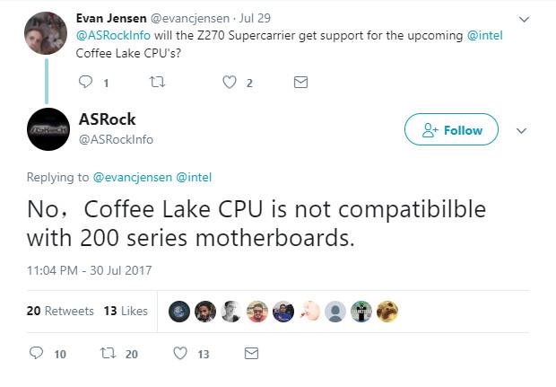 ASRock dice que los Intel Coffee Lake necesitarán nuevas placas base 34