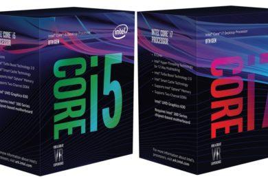 Así son las cajas de los Core i7 y Core i5 de octava generación