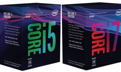 Así son las cajas de los Core i7 y Core i5 de octava generación 68