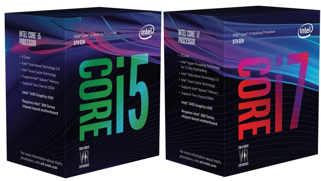 Así son las cajas de los Core i7 y Core i5 de octava generación 29