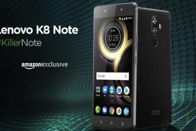 """Lenovo K8 Note, prestaciones, buen precio y Android """"puro"""""""