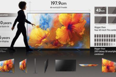 Samsung lanza su televisor Q9 de 88 pulgadas con pantalla OLED