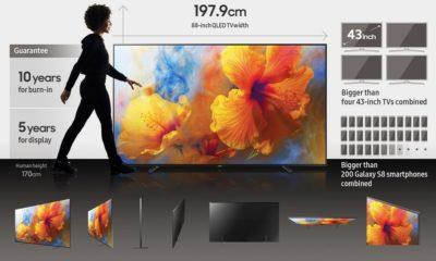 Samsung lanza su televisor Q9 de 88 pulgadas con pantalla OLED 86
