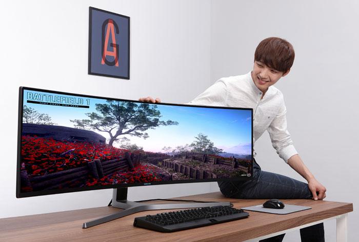 Samsung lanza el monitor gaming QLED curvado más grande del mercado 31