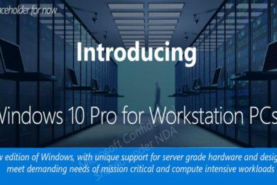 Microsoft anuncia el Windows 10 Pro para Workstations