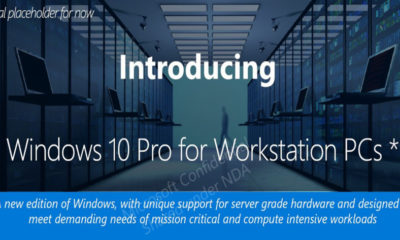 Windows 10 Pro para Workstations