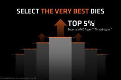Los chips utilizados en Threadripper son elegidos cuidadosamente por AMD