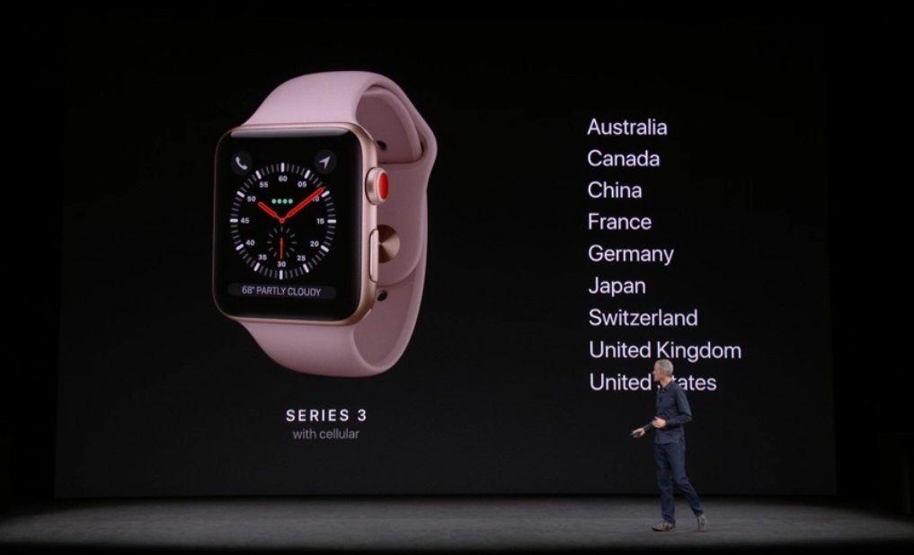 Nuevo Apple Watch Series 3, especificaciones y precio 59