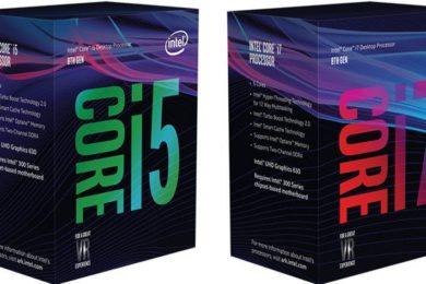 Intel anuncia los procesadores Coffee Lake para PCs de sobremesa, modelos y precio