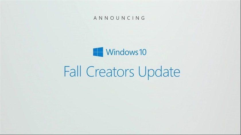 Windows 10 Fall Creators Update aterrizaría el 17 de octubre