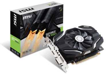 MSI amplia catálogo con la GeForce GTX 1050 Ti 4G OCV1