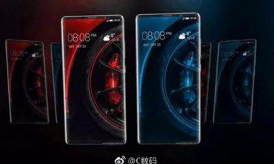 Filtrados renders de prensa del Huawei Mate 10 Pro, pantalla 18:9 y doble cámara 34