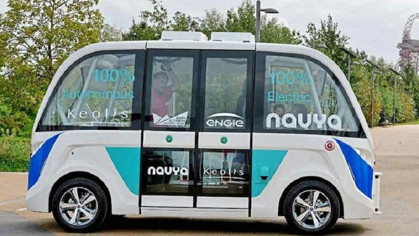 Navya, un minibus eléctrico y autónomo que da servicio gratuito 31