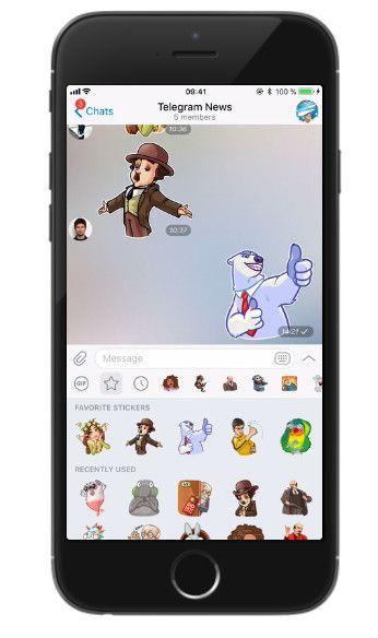 nueva versión de Telegram