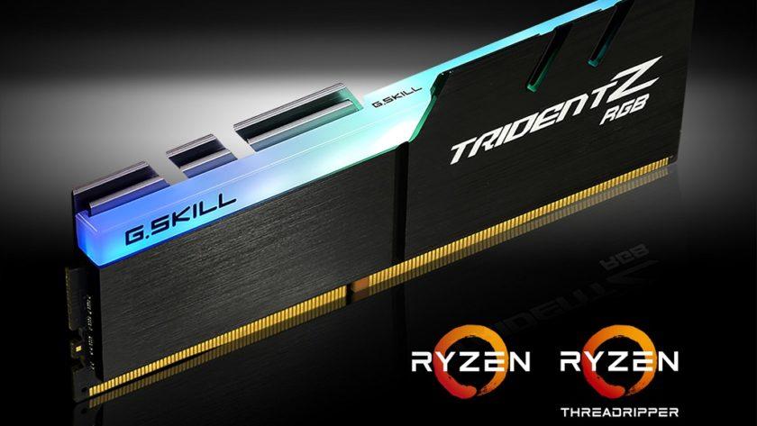G.Skill anuncia memoria Trident Z RGB DDR4 optimizada para Ryzen