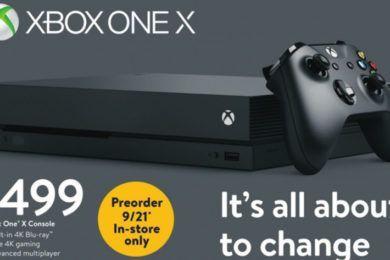 Walmart comienza la venta de Xbox One X