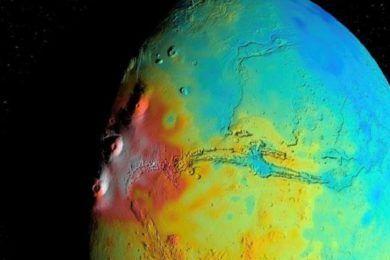 La corteza de Marte es menos densa de lo que creían los astrónomos
