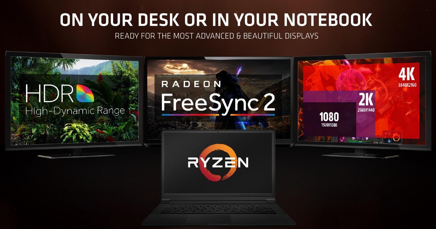 AMD anuncia los nuevos Ryzen Mobile: CPU Zen y GPU Vega 33