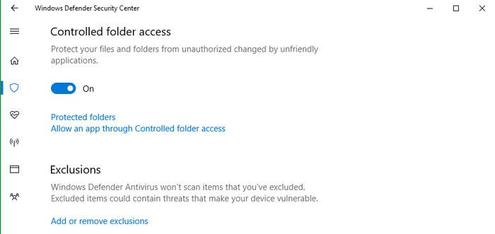 Controlled Folder Access, Windows 10 te protege del ransomware 33