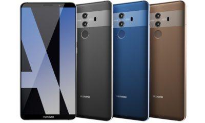 Primer render de prensa del Huawei Mate 10 Pro, especificaciones 30
