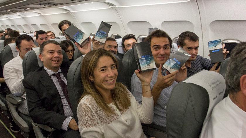 Samsung regala 200 Galaxy Note 8 en un vuelo de Iberia