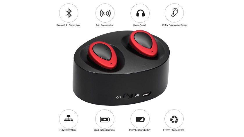 TWS-K2 True Wireless, auriculares inalámbricos económicos