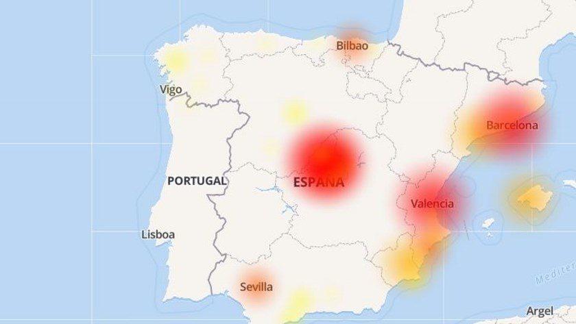 Un fallo masivo en Movistar deja a media España sin Internet