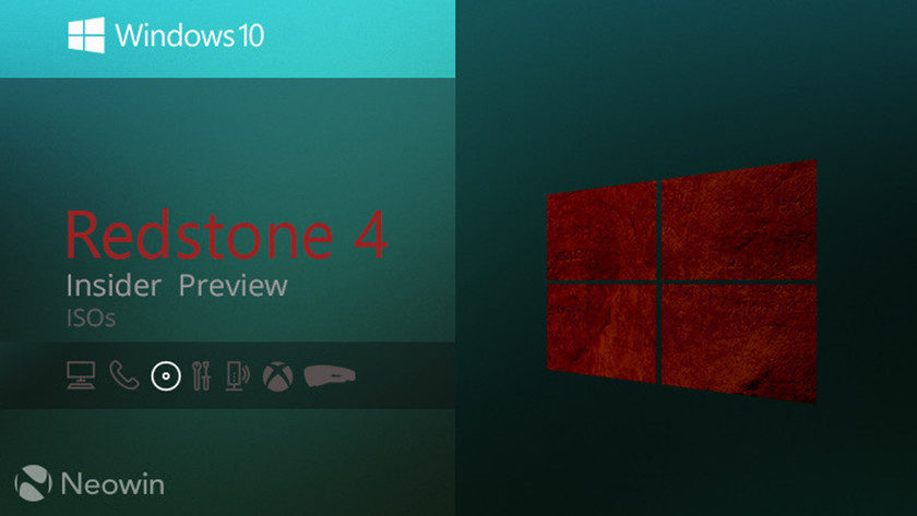 Microsoft publica la primera ISO de Windows 10 Redstone 4