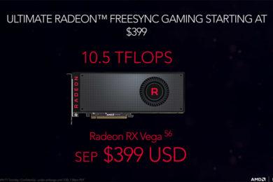 La Radeon RX Vega 56 supera a la GTX 1080 en algunos juegos, la optimización es clave