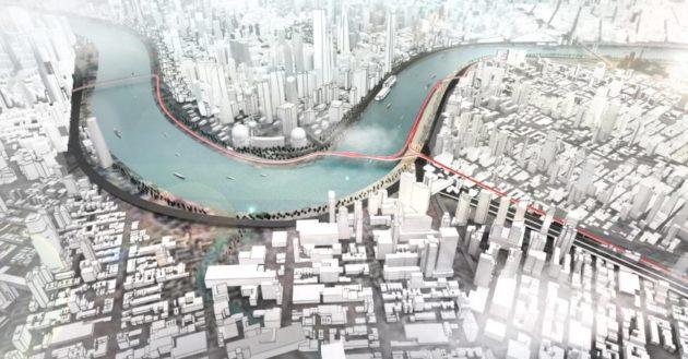 BMW quiere resolver el problema del tráfico urbano con un carril bici elevado 30