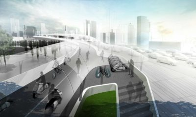 BMW quiere resolver el problema del tráfico urbano con un carril bici elevado 34