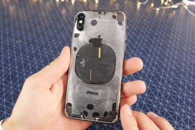 Así queda el iPhone X con un acabado totalmente transparente