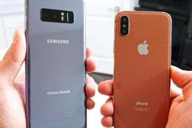 iPhone X contra Galaxy Note 8 en test de rendimiento