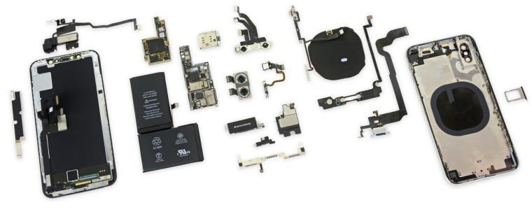 materiales del iPhone X