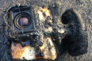 Una GoPro sobrevive a un baño en lava