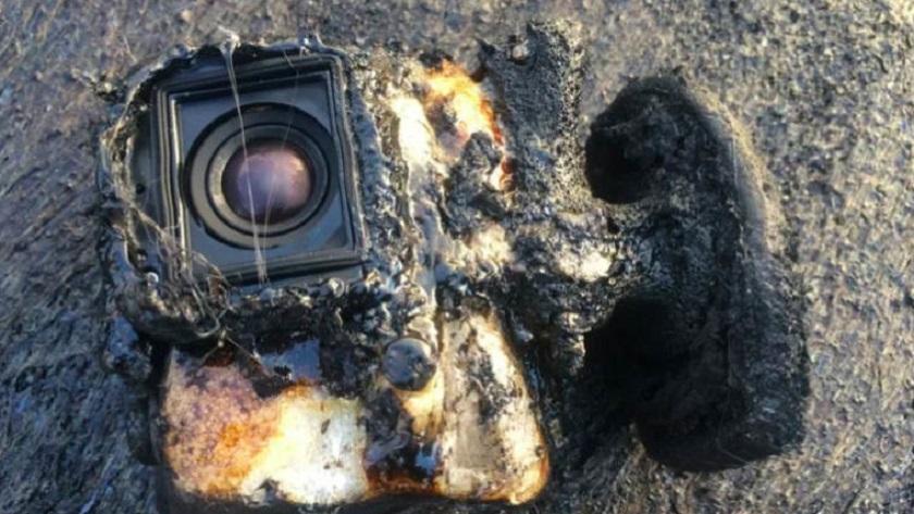 Una GoPro sobrevive a un baño en lava 34